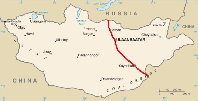 kart over uralfjellene